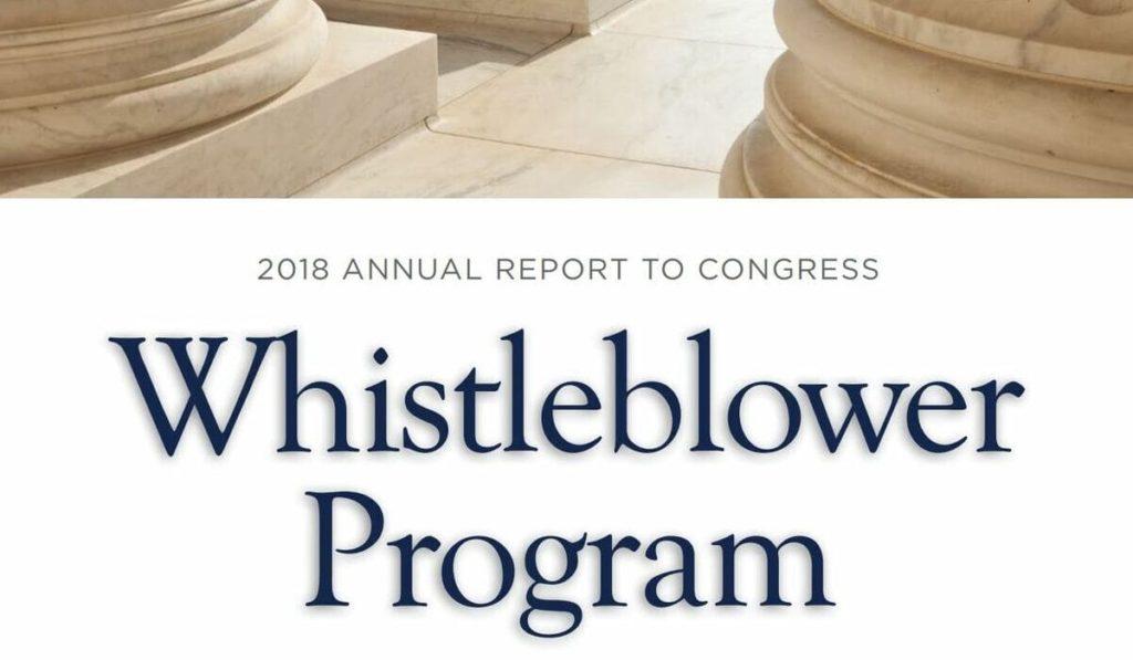 whistleblower program SEC Etats-Unis corruption fraude fcpa rapport 2018 lanceur alerte