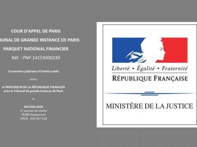 CJIP convention judiciaire d'intérêt public Egis Avia et PNF 14153000230 AFA